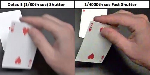 sluitertijd camerabewaking